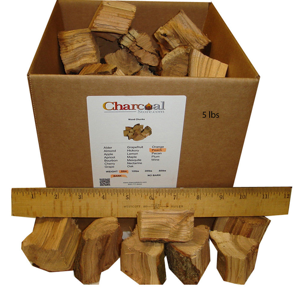 Peach Chunks - Bark (50 lb) - 9690