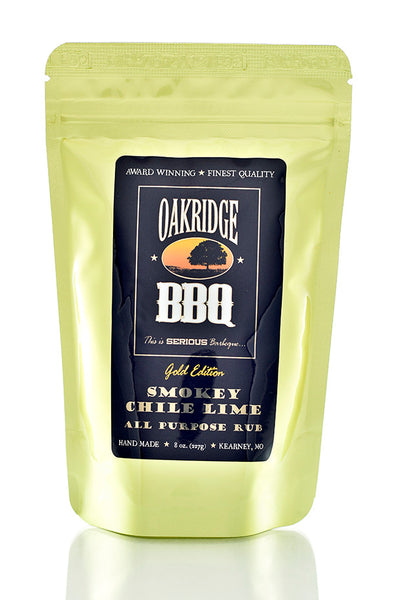 Oakridge BBQ Gold Edition Smokey Chili Lime All Purpose Rub - 8 oz