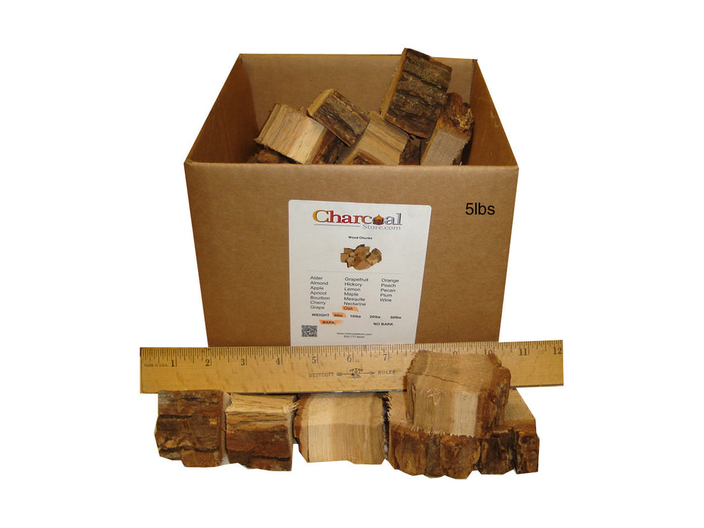 White Oak Chunks - Bark (20 lb) - 9692