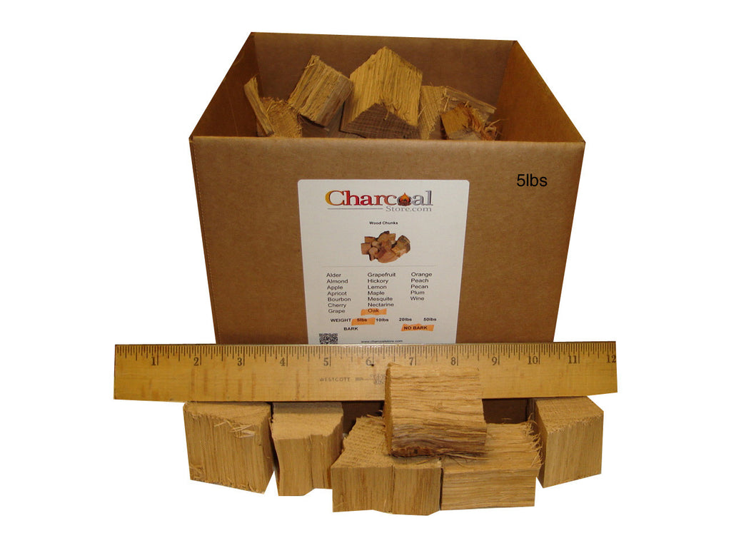 White Oak Chunks - No Bark (20 lb) - 9597