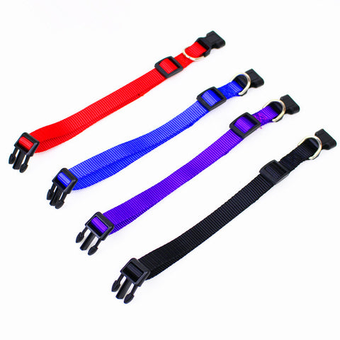 Nylon dog collars  4 Sizes 4 colors adjustable