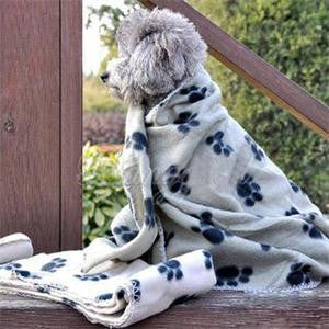 Paw Print Warm Fleece Blanket 1 size 5 colors to choose from
