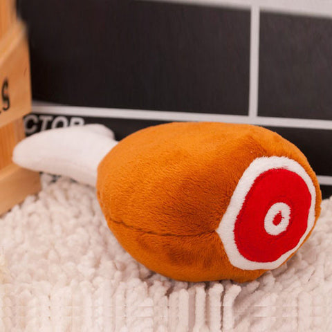Chicken  Leg Plush Squeaker  Toy