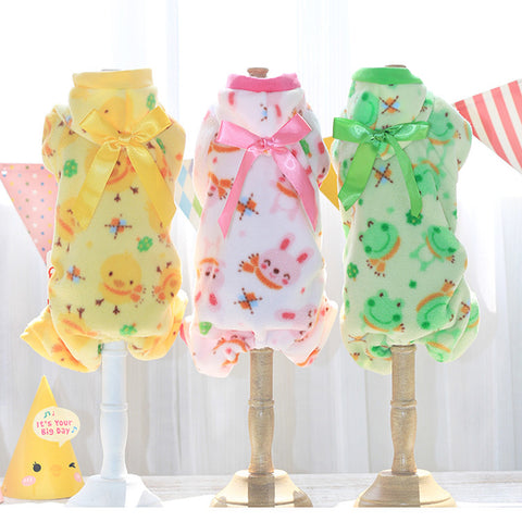 Adorable Soft, Fleece Dog Pajamas 3 designs