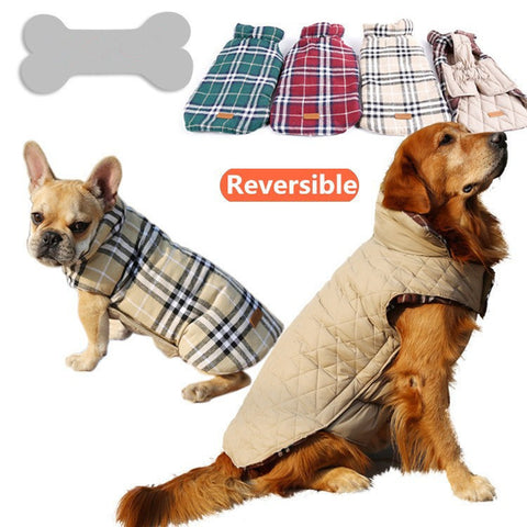 Windproof Reversible Dog Jacket 4 colors