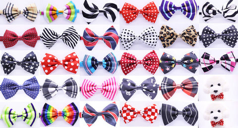 Bowknot Adjustable Dog Neck Tie 15 designs