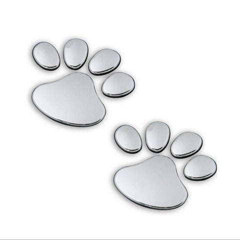 3D Paw Prints Decal
