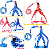 Adjustable Nylon Harness with leash 5 Colors
