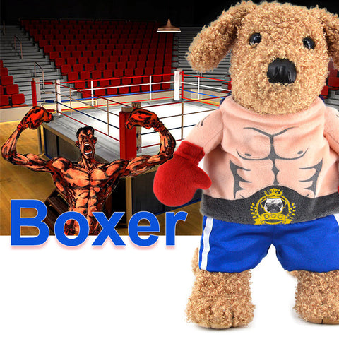 Boxer Costume  with Red Boxing  Gloves
