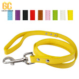 "48"" Length Flat Leather Dog  Leash 9 Colors"