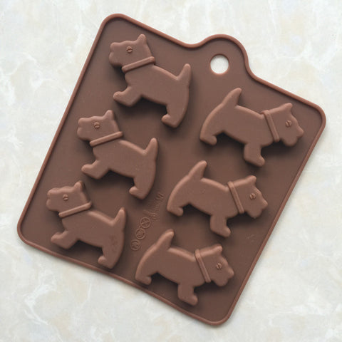 3d Dog Shape Silicone Mold for ice cubes, chocolate, or soap