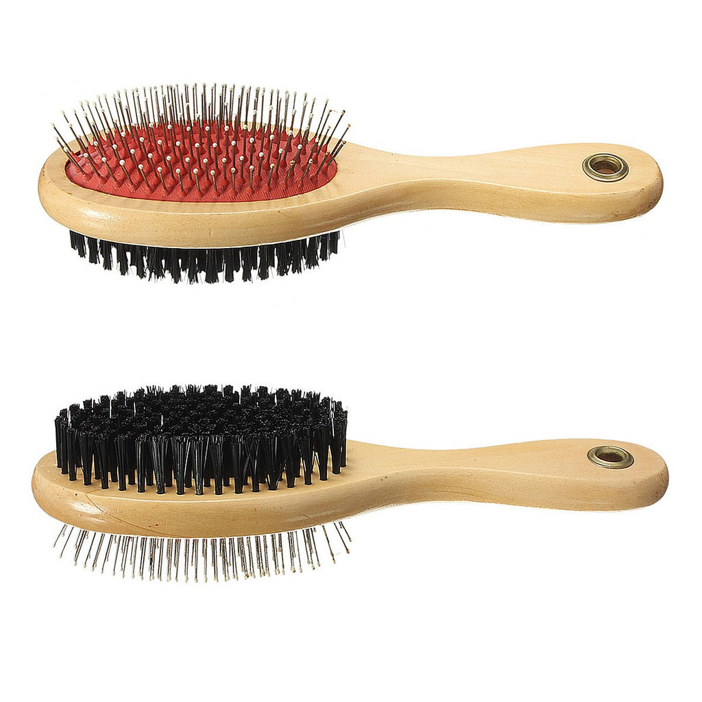 Wooden Grooming Brush Double Sided