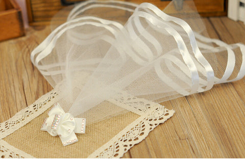Pet Wedding Veil for Bride white or pink
