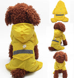 Dog Rain Coat, 4 colors and sizes xs to xxl