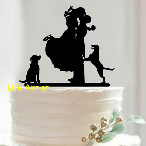 Cake Topper with Pet Dogs