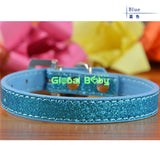 Bling Dog Collar with Crystal Heart Charm