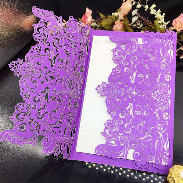 10Pcs/Lot Hollow Laser Cut Wedding/Business/Party/Birthday Invitations