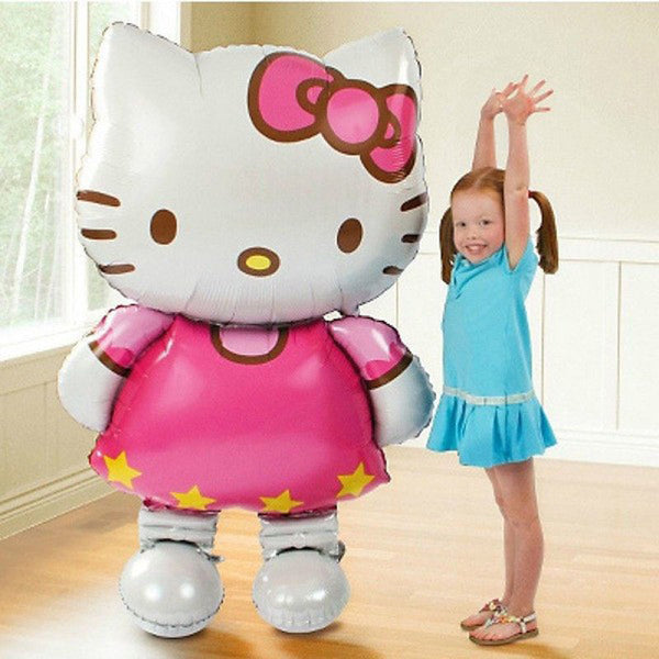116*65cm Large Size Hello Kitty Cat Foil Balloons