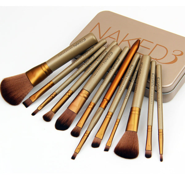 12pcs/set Naked Professional makeup Brushes