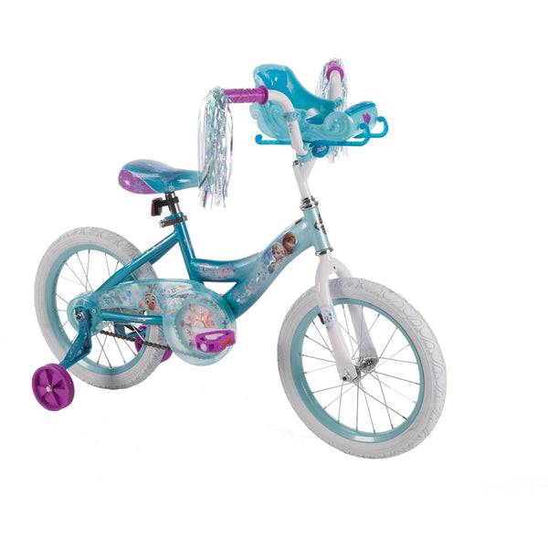 "16"" Huffy Girls' Disney Frozen Bike, Sleigh Doll Carrier"