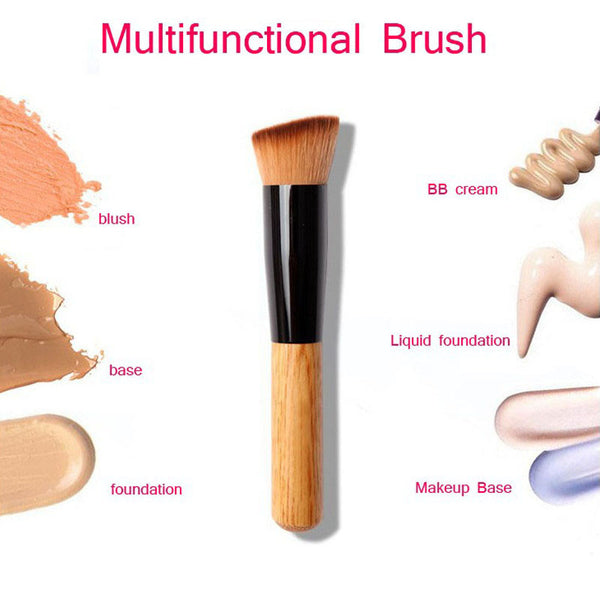 1PCS Wooden Professional Makeup Brush