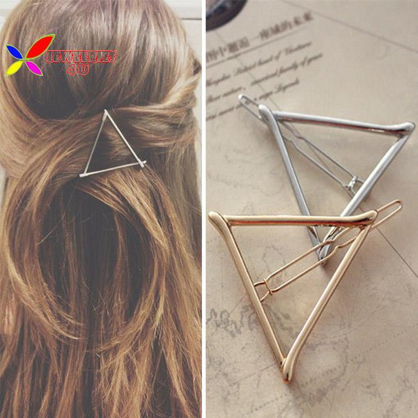 Gold&Silver plated metal triangle hair clip
