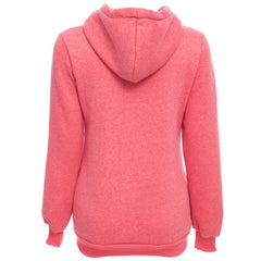 Zipper Women Hoodies Sweatshirts
