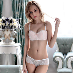 Floral Embroidery Lace Bra and Panties Set