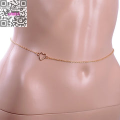 Sexy Heart Belly Chain Waist Chain