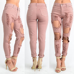 Tight Pencil Pants Vintage Ladies Jeans pants