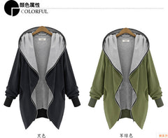 Oversized Sweatshirts Solid Color Hooded Jacket