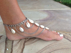 Barefoot Sandals Shell Multilayers Anklet