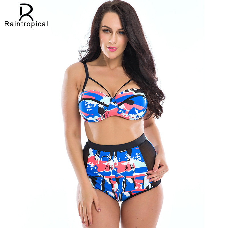 fa9a677f6d571 Floral Print High Waist Swimsuit Push Up Bikini Plus Size – FashionCOUTURE  Store
