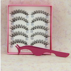 Stainless Steel Multifunctional False Eyelashes Tweezers Applicator Tool