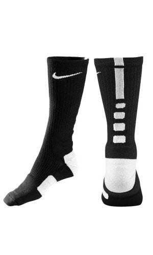 Dri-Fit Elite Basketball Crew Socks Black Large