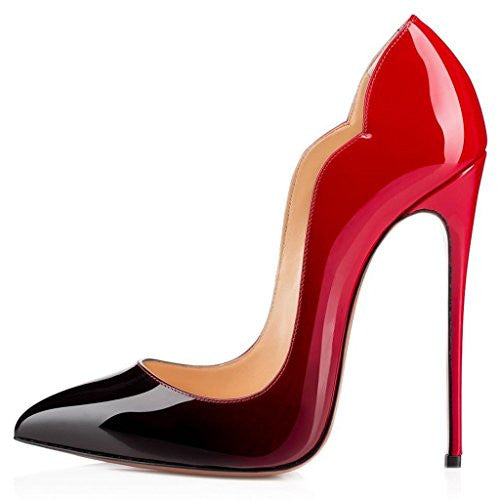 Comfity Women's Relia Patent Stiletto High Heels Pointed Toe Spring Summer Autumn Party Pumps