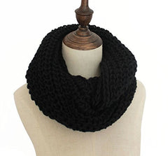 Oure Women Solid Knit Infinity Scarf Soft Warm Scarves