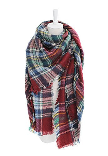 POSESHE Stylish Warm Blanket Scarf Gorgeous Wrap Shawl