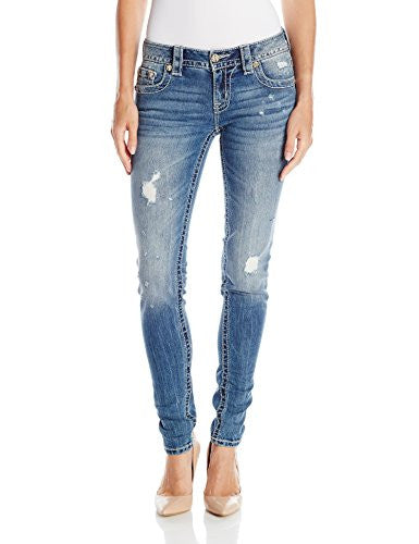 Miss Me Women's Wing Cross Mid Rise Skinny Jean
