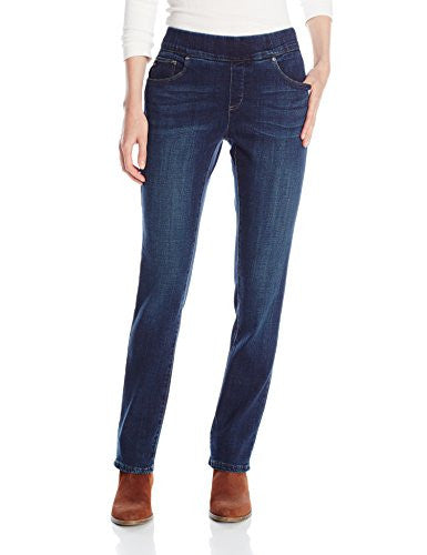 Lee Women's Platinum Natural-Fit Pull-On Evelyn Straight-Leg Jean
