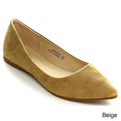 Women's Classic Pointy Toe Ballet Flat Shoes