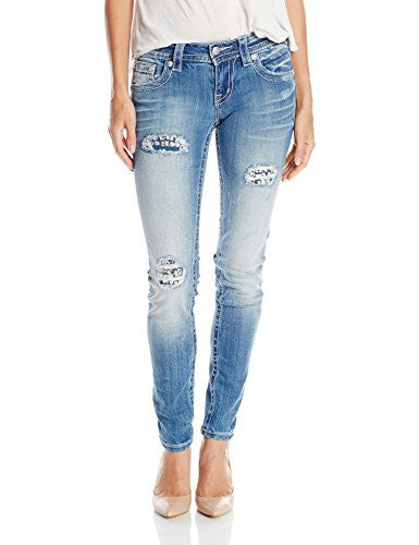Miss Me Women's Rhinestone Distressed Skinny Jean
