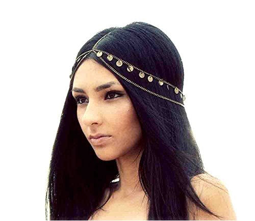 Retro Mysterious Fashion Metal Head Chain Jewelry Chain Headband Head Piece Hair Band