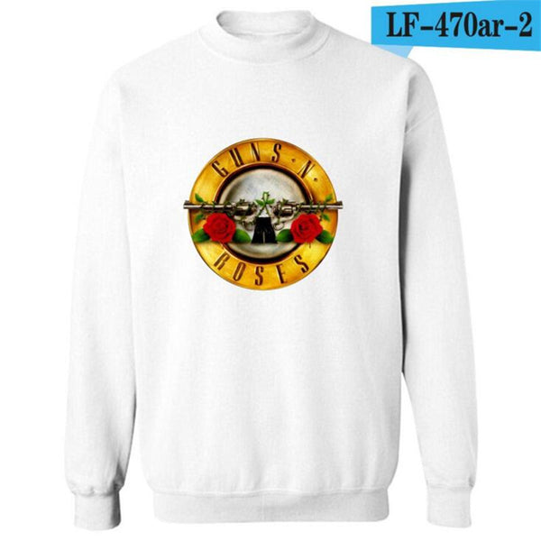 Gunners and Rose Band Hoodies Cotton