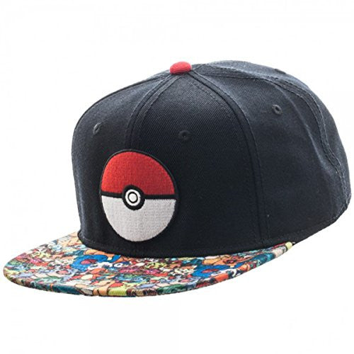 Pokemon- Pokeball Sublimated Snapback Hat Size ONE SIZE 3c6fe658d97f