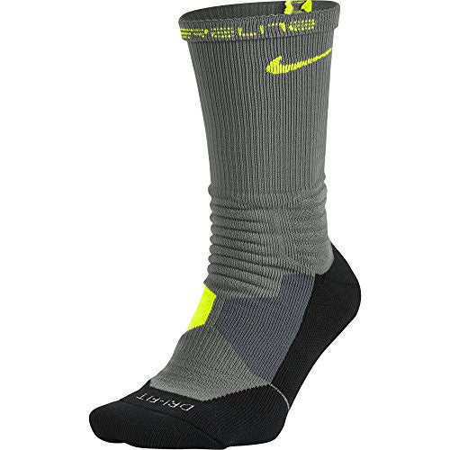 Men's Hyper Elite Basketball Crew Socks Large