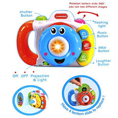 Happytime Children's Projection Camera Disco Music Simulation Cd Light Toy for 2 Year Old Kids
