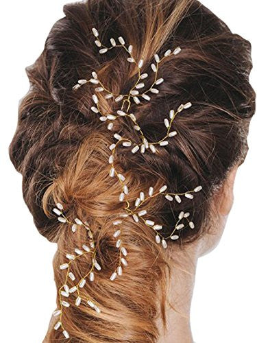 Bridal Handmade Crystal Hair Pins Clips for Women Hair Styling (3 Pcs)