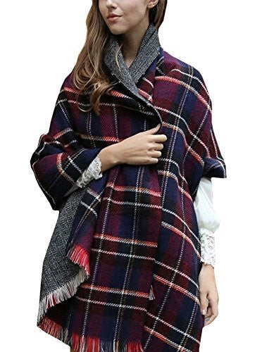 Women's Soft Tartan Checked Plaid Scarf