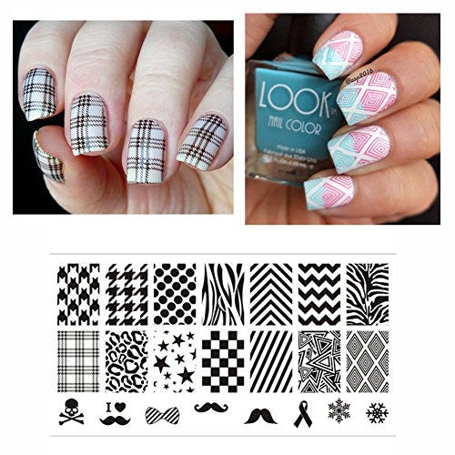 Born Pretty Nail Art Stamp Template Image Plate Selected Classic Patterns